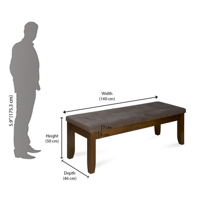 Pandora Dining Bench (Walnut)