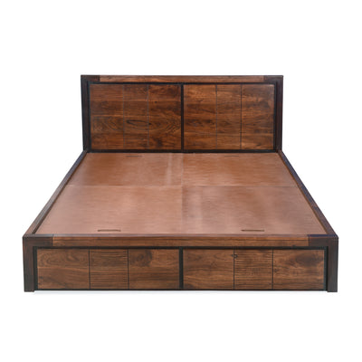 Patterson Queen Bed Without Storage (Dark Brown)