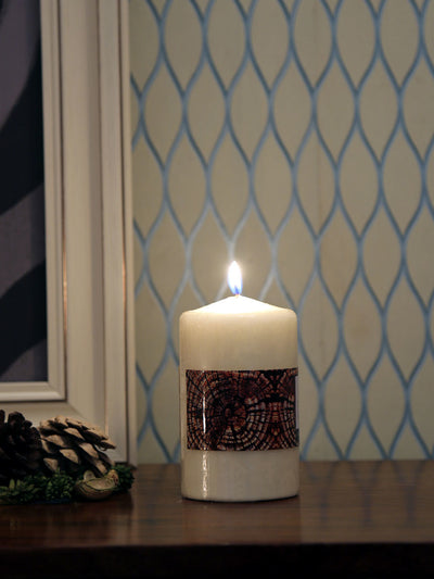 Vanilla Medium 3 Pieces Pillar Candles (Ivory)