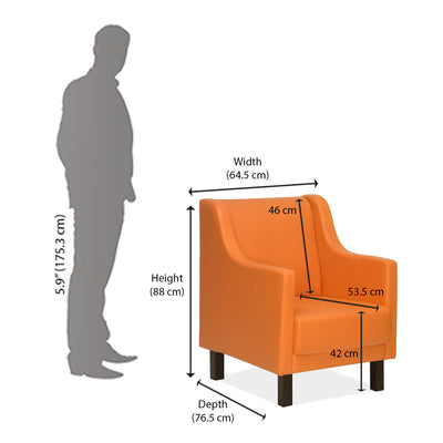 Porto Occasional Chairs (Orange)