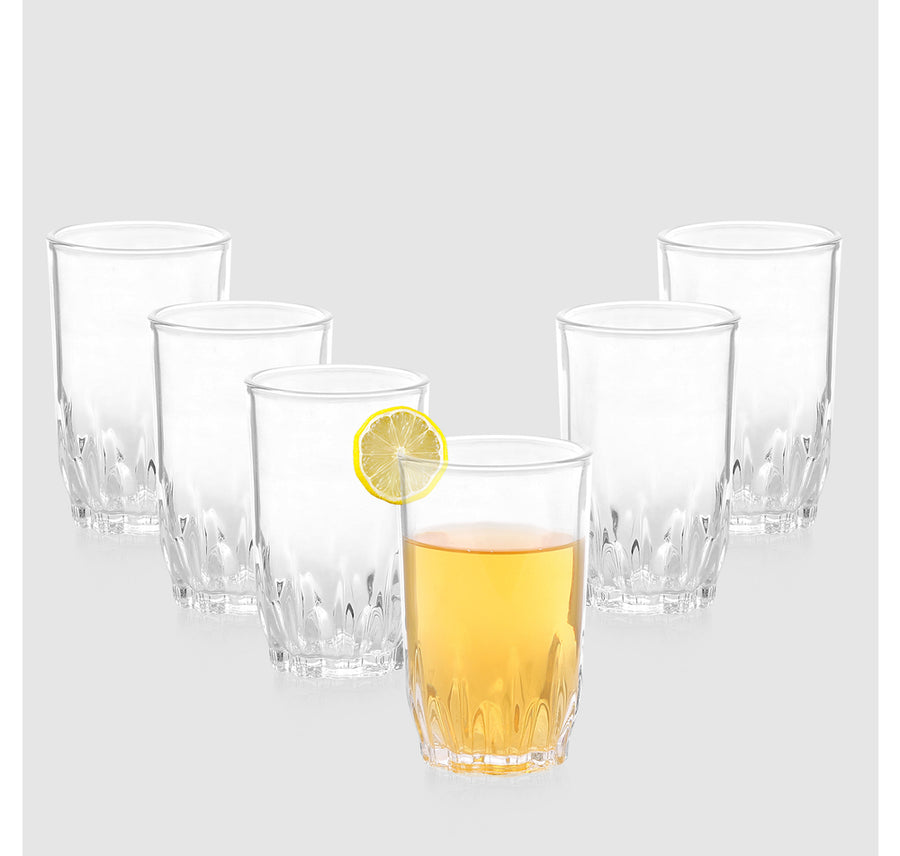 6 Piece Polo Water Tumbler (Transparent)