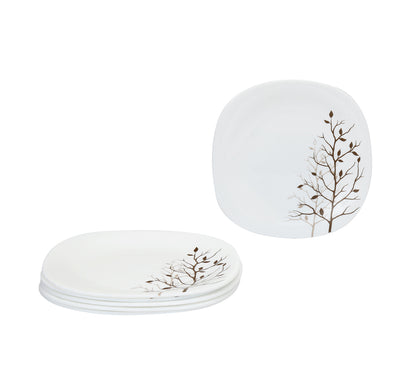Laopala Quadra Autumnal Quarter Plate Set Of 6 (White)