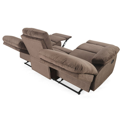 Rays 3 Seater with 2 Manual Recliners ( brown)