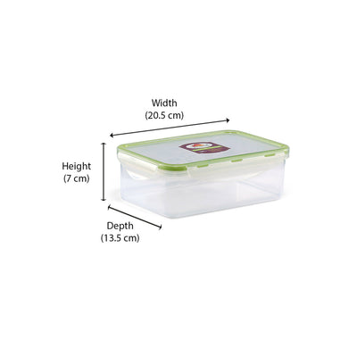 Rectangular Container 1 Litre (Green)