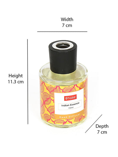Indian Essence 150 ml Reed 2 Pieces Diffuser Set (Yellow)