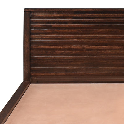 Rigato Queen Bed With Storage (Walnut)