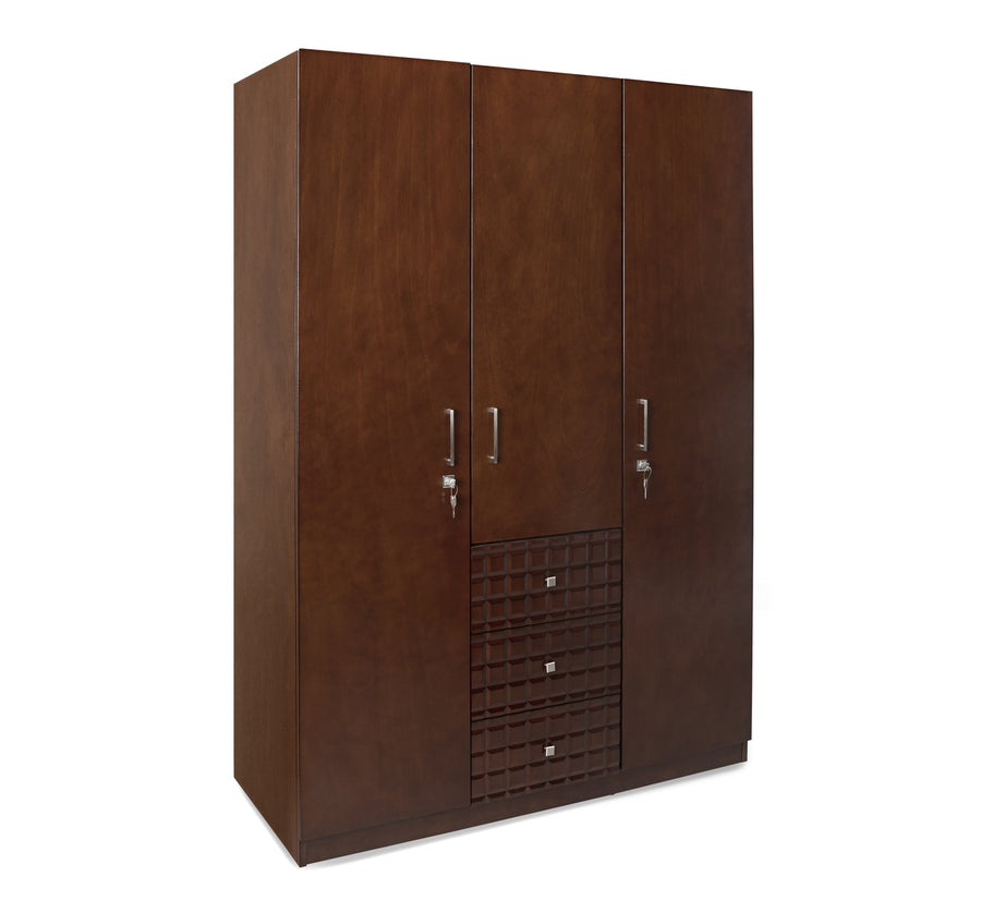 Rivera Three Door Wardrobe (Walnut)
