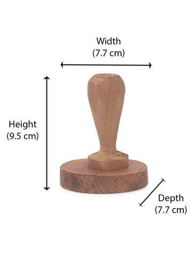 Wooden Roti Press (Brown)