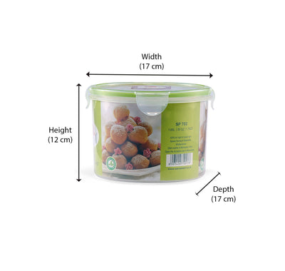 Round Container 1.65 Litre (Green)