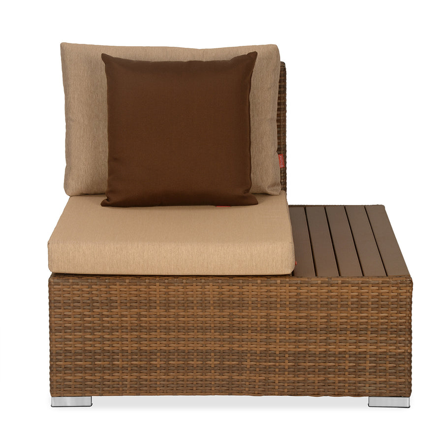 Rover 1 Seater Garden Sofa with Left Arm (Tan Brown)