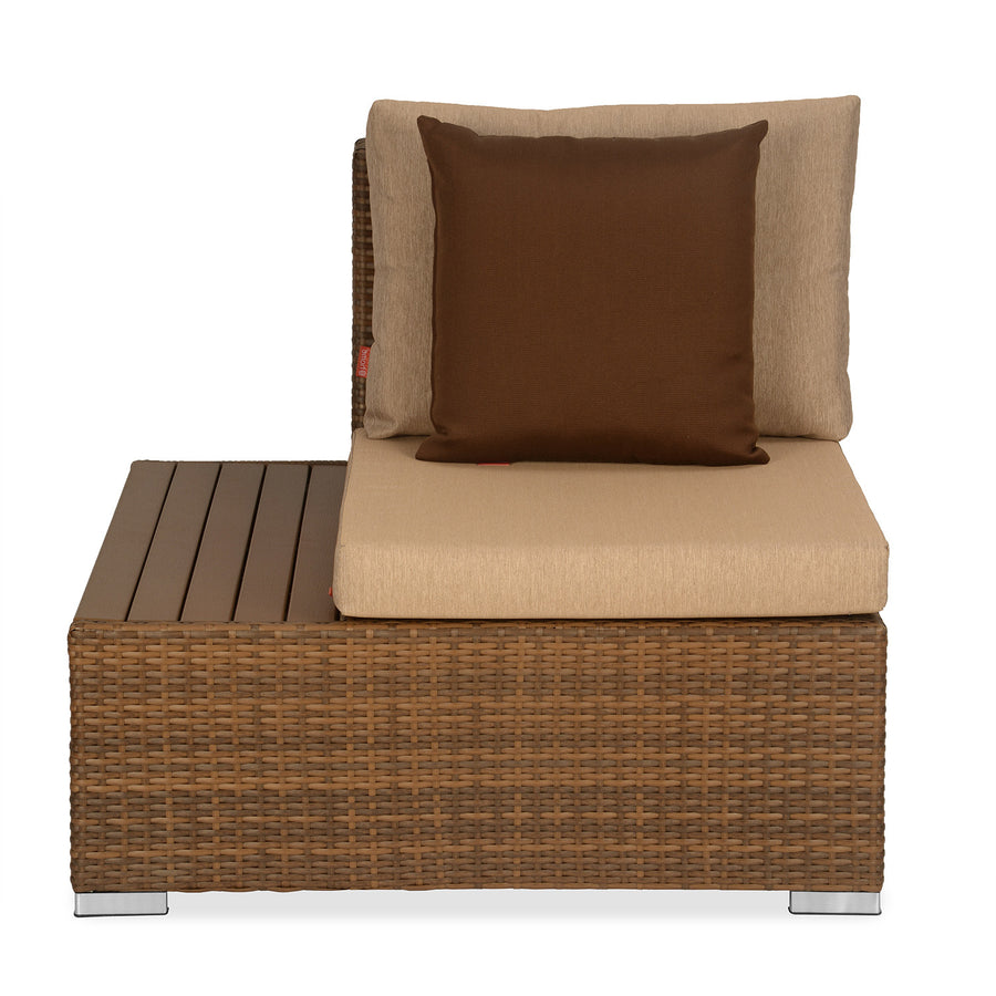 Rover 1 Seater Garden Sofa with Right Arm (Tan Brown)