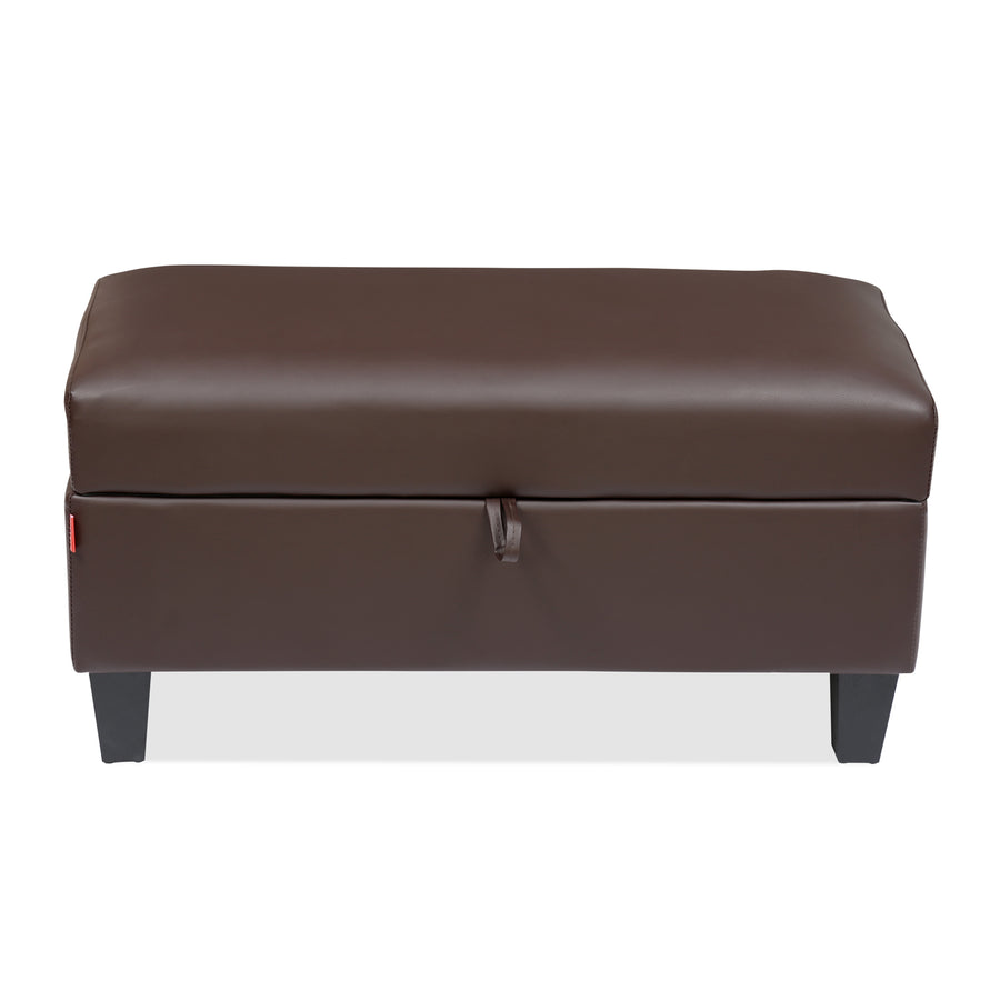 Russ Big Ottoman with Storage (Dark Brown)