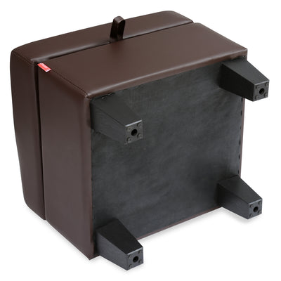 Russ Small Ottoman with Storage (Dark Brown)