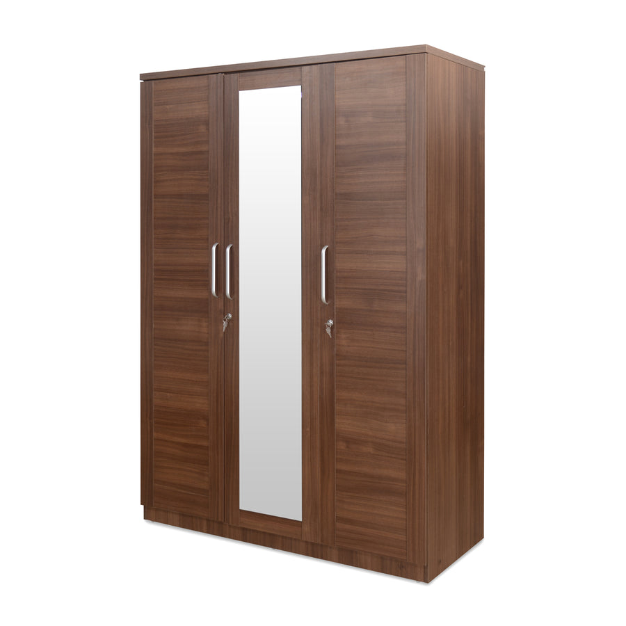 Sansa Three Door Wardrobe (Walnut)