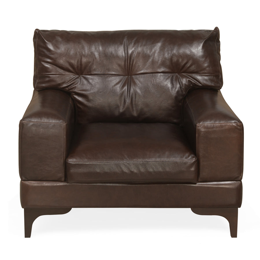 Savio One Seater Sofa (Chestnut)
