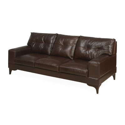 Savio Three Seater Sofa (Chestnut)