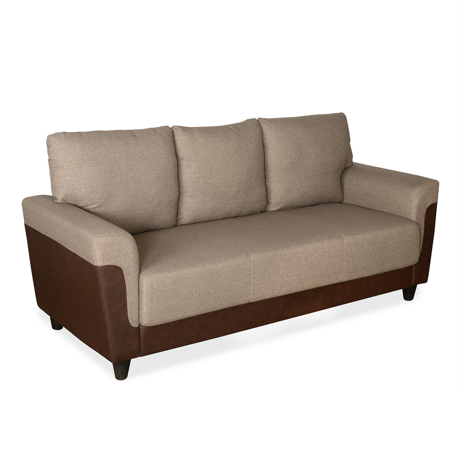 Saviour Three Seater Sofa (Mocha Brown)