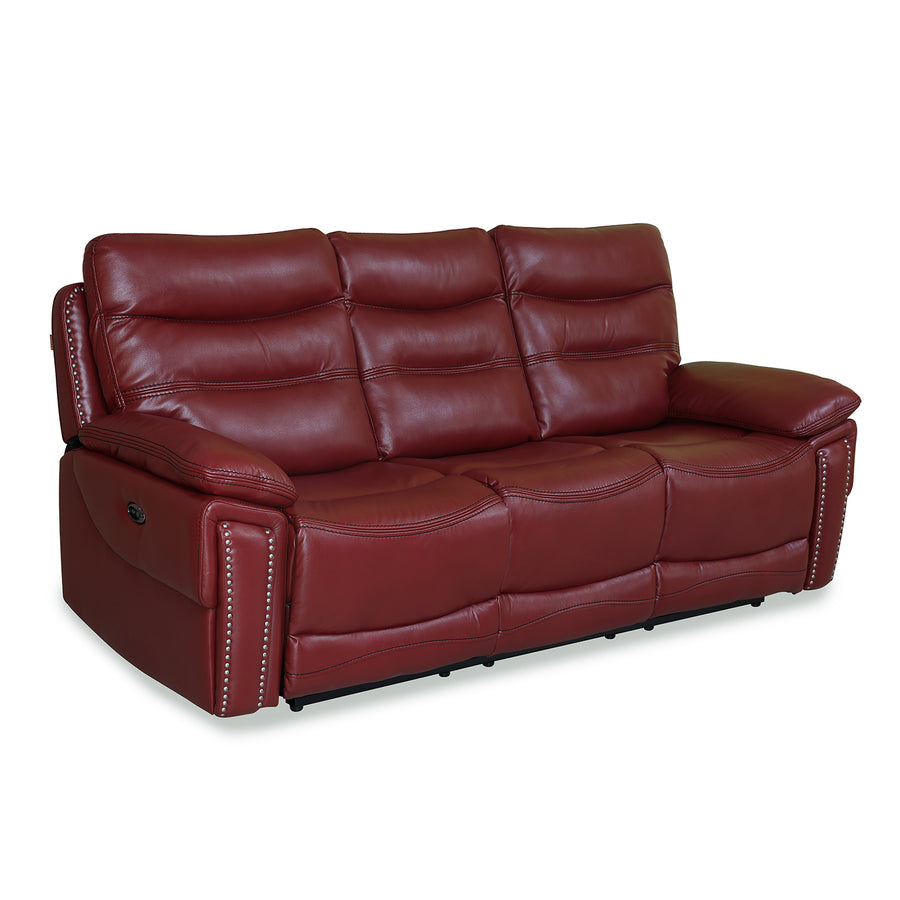 Shanghai 3 Seater with 2 Electric Recliner (Maroon)