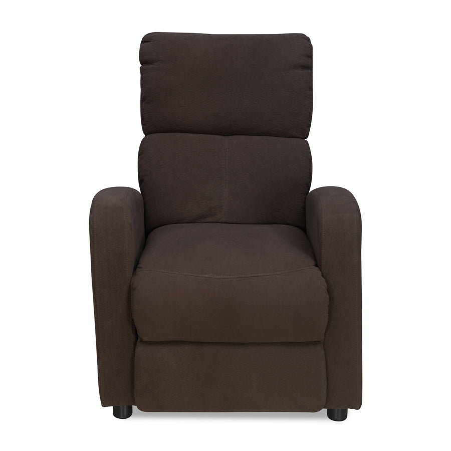 Silome 1 Seater  Manual Recliner (Dark Brown)