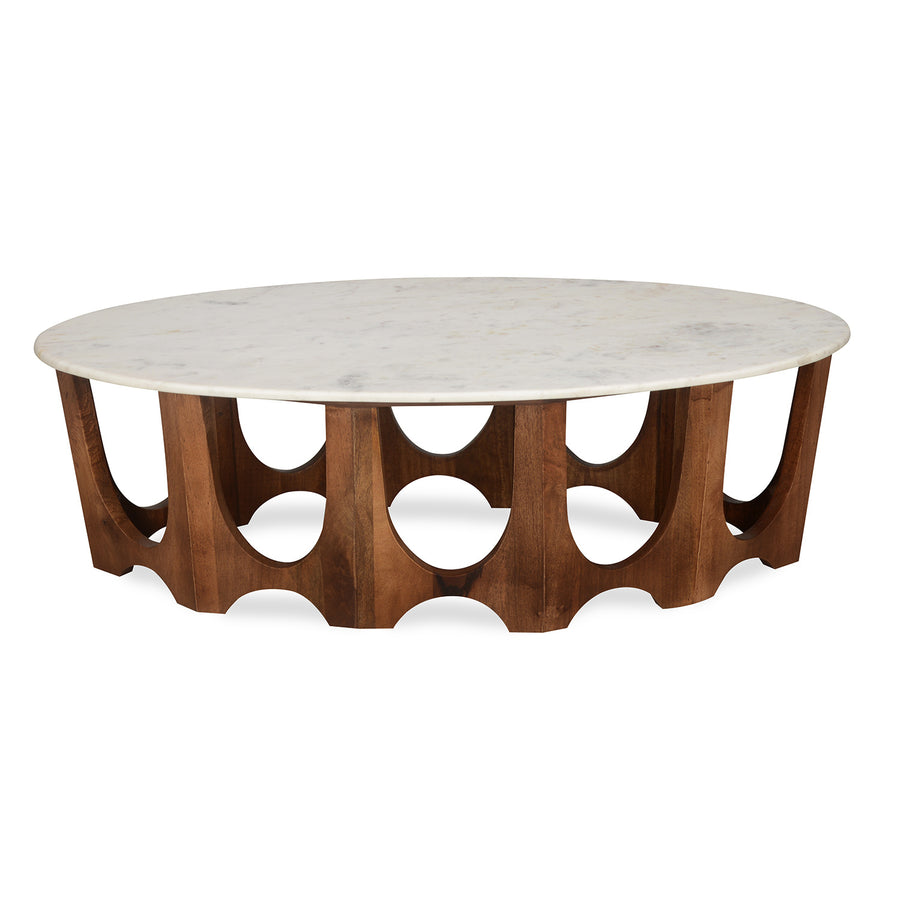 Sinclair Center Table with Marble Top (Walnut)