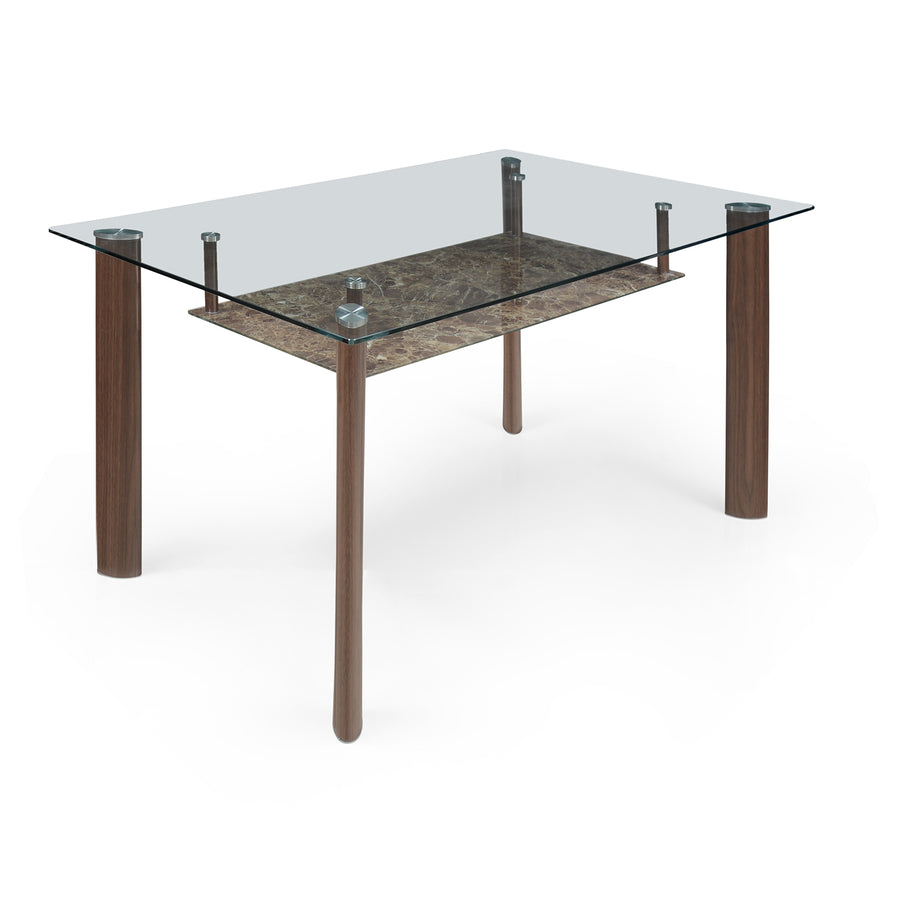Soniya Six Seater Dining Table (Merlot Brown)