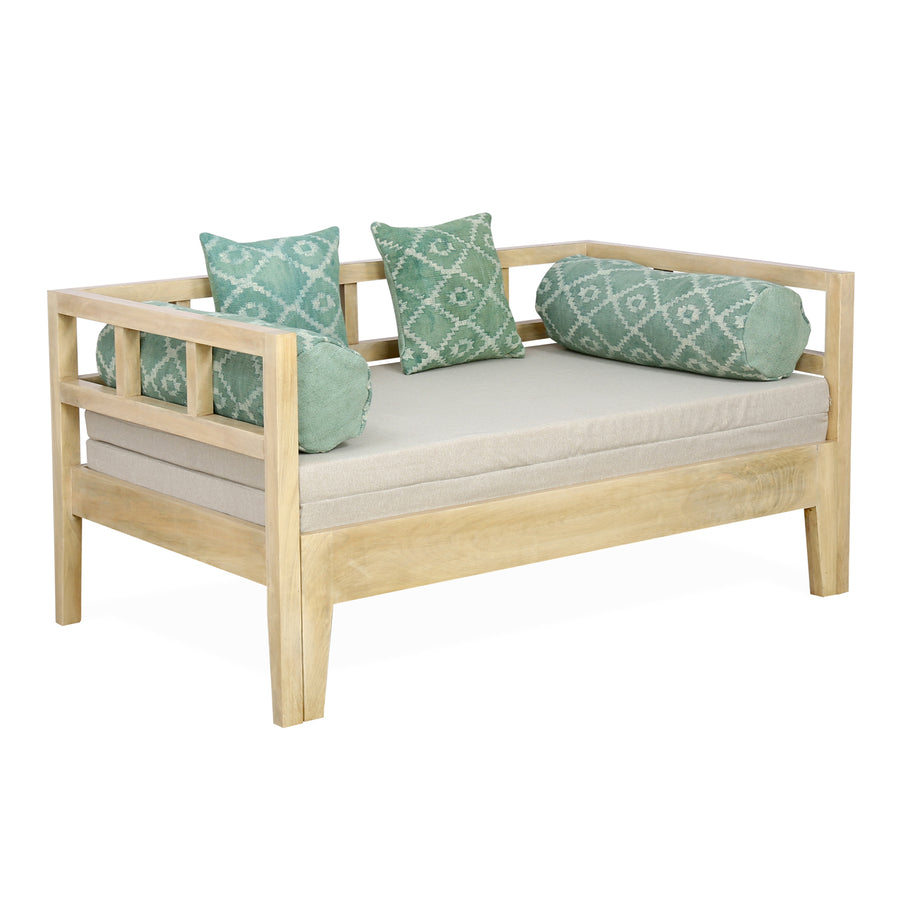 Spatial Sofa cum Bed (Beige & Green)