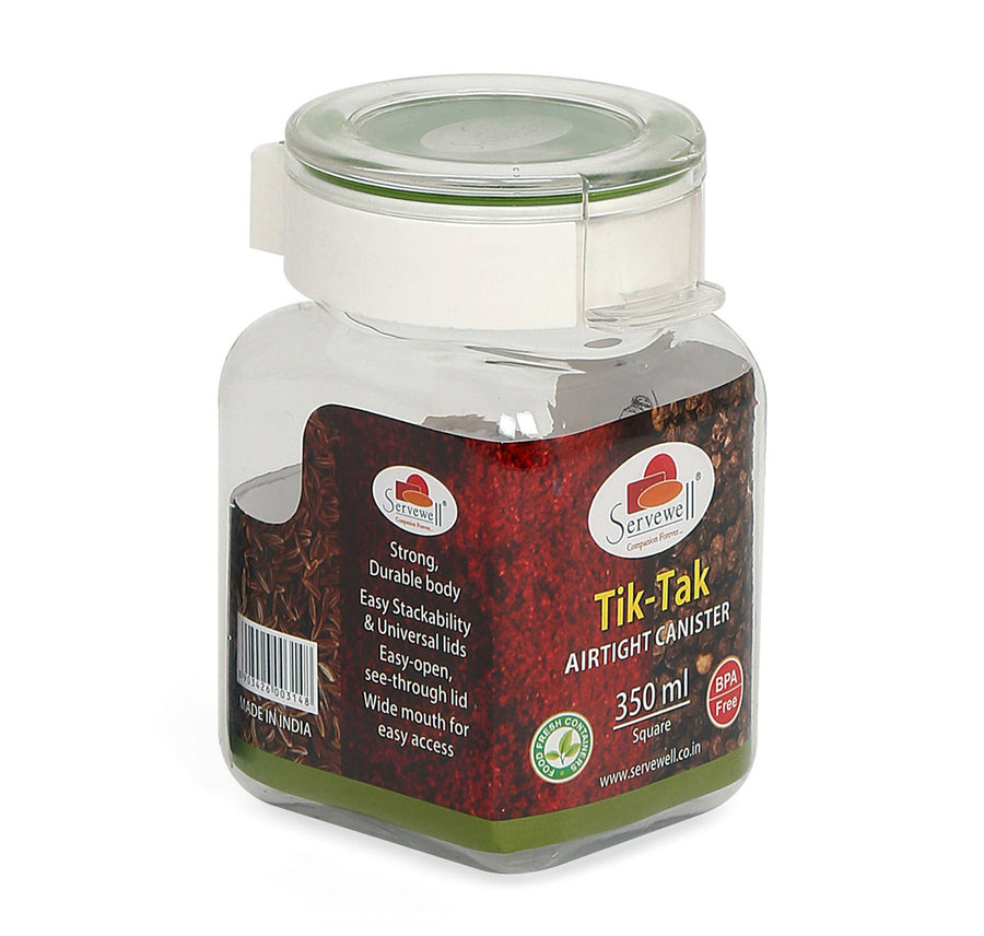 Tik Tak Square Canister 350 ml (Green)