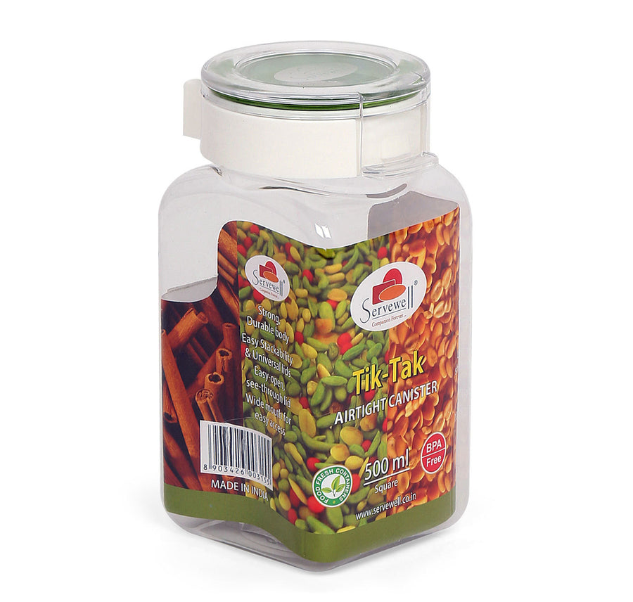 Tik Tak Square Canister 500 ml (Green)