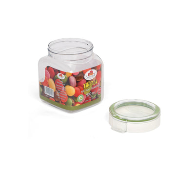 Tik Tak Square Canister 900 ml (Green)