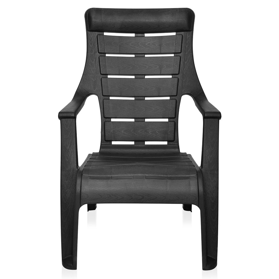 Nilkamal Sunday Garden Chair Set of 2 (Black)