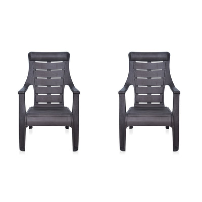 Nilkamal Sunday Garden Chair Set of 2 (Weather Brown)