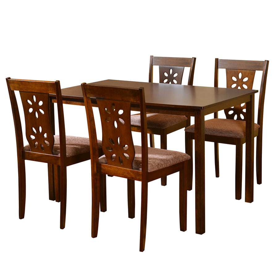 Sutlej 4 Seater Dining Set (Antique Cherry)