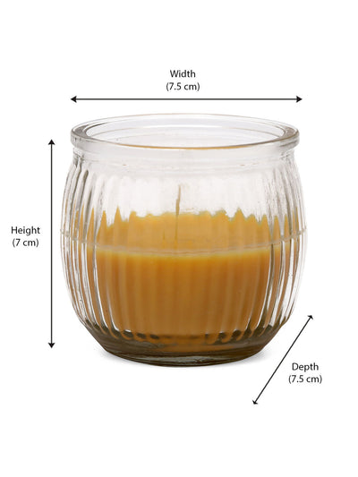 Indian Essence Swirl 6 Pieces Cup Candles (Yellow)