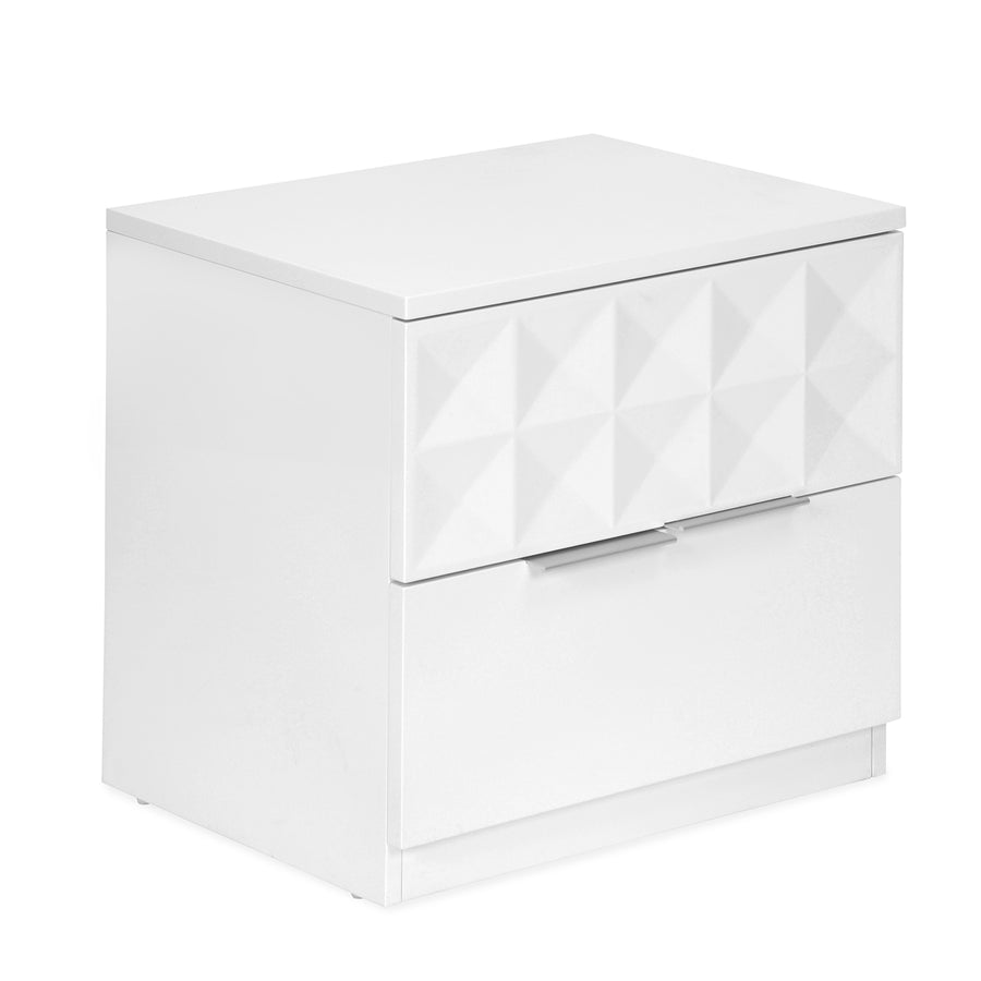 Theia High Gloss Night Stand (White)