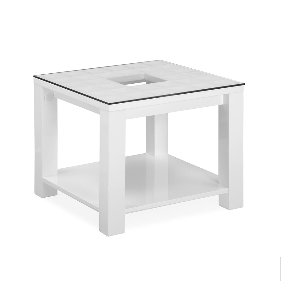 Theia High Gloss Side Table (White)