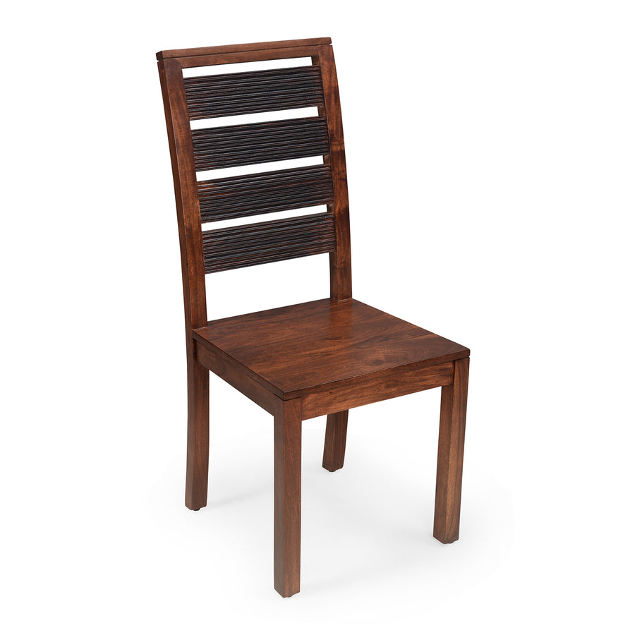 Tiara Dining Chair (Dark Honey Brown)