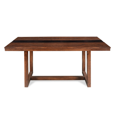 Tiara Six Seater Dining Table (Dark Honey Brown)
