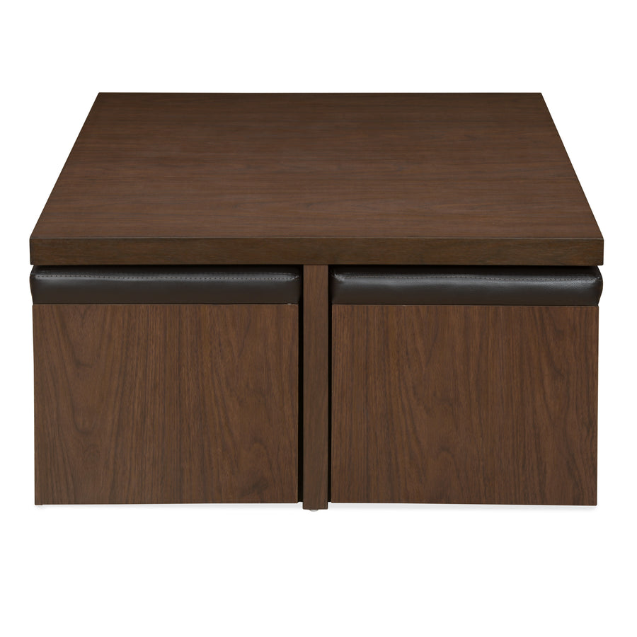 Trendy Center Table Set with Stool (Walnut)