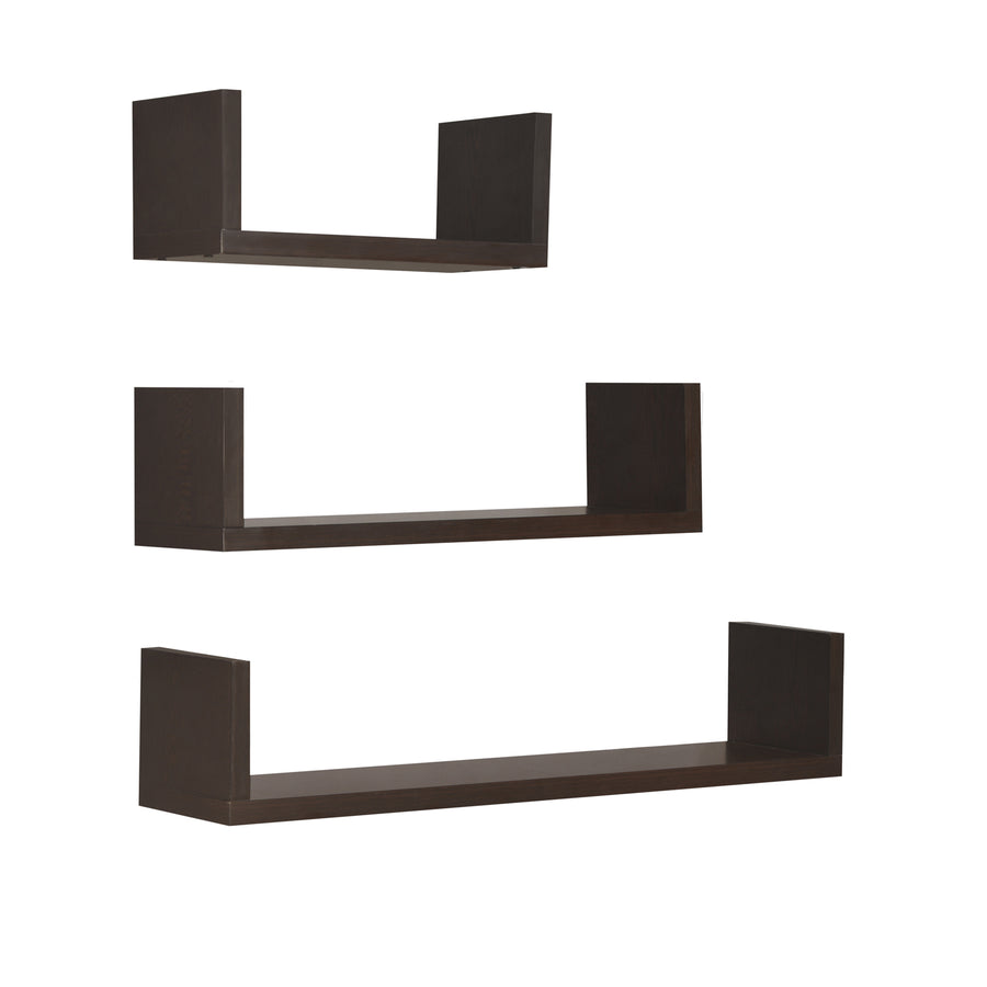 Triad Wall Shelf Set Of 3 (Wenge)