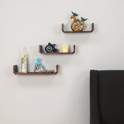 Trio Shelf Set Of 3 (Walnut)