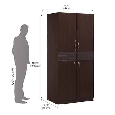 Triumph Two Door Wardrobe (Walnut)