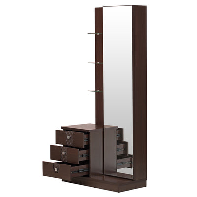 Triumph Dresser With Mirror dark walnut (Walnut)