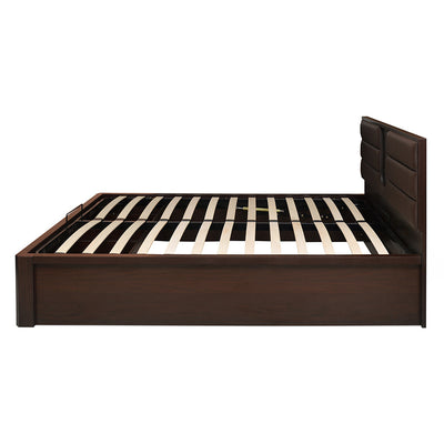Triumph Liftable Queen Bed With Storage (Dark Walnut)