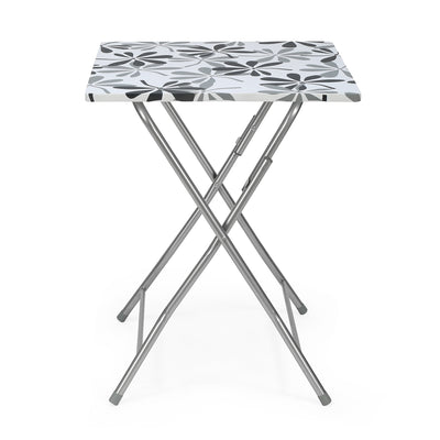 Tulsa Foldable Square Table (Black & White)