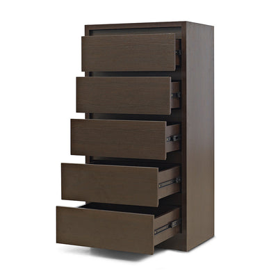 Vagus 5 Chest of Drawers (Dark Walnut)