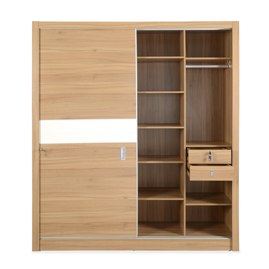 Valentino Sliding Wardrobe (Maple)