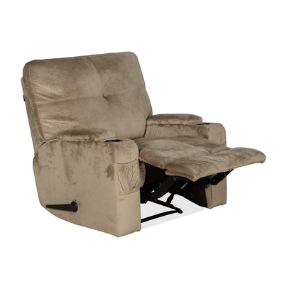 Vance 1 Seater Sofa with Manual Recliner (Mocha Brown)