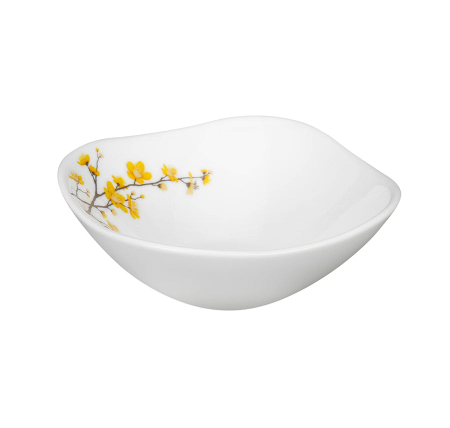 Laopala Quadra Summertide Veg Bowl Set Of 6 (White)