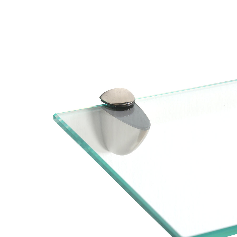 Velocity Glass Wall Shelf (Clear)