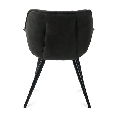 Versace Arm Chair (Charcoal)